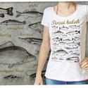Tiszai halak női Stars pólón, Otthon & lakás, Táska, Divat & Szépség, Képzőművészet, Női ruha, Ruha, divat, Ezt a grafikát a Tisza vidéke, a halak és a horgászat kedvelőinek készítettük. Női verzió.   Méretet..., Meska