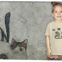 3 cica, Gyerek & játék, Táska, Divat & Szépség, Gyerekruha, Ruha, divat, A grafika Nora Dovidonytė litván grafikus munkája.  Méretet megjegyzésben lehet rendeléskor választa..., Meska