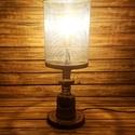 Ipari stílusú asztali lámpa, Otthon, lakberendezés, Lámpa, Hangulatlámpa, Asztali lámpa, Fémmegmunkálás, Festett tárgyak, A termék méretei: - Magassága 58,5 cm - Szélessége: 20 cm - Hosszúsága: 20 cm - Súlya 7,8 kg  - Vez..., Meska