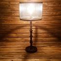 Ipari stílusú lámpa, Otthon, lakberendezés, Lámpa, OIvasólámpa, Asztali lámpa, Fémmegmunkálás, Festett tárgyak, A termék méretei: - Magassága 71 cm - Szélessége: 31,5 cm - Hosszúsága: 31,5 cm - Súlya 5,0 kg  - V..., Meska