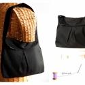 """Missy - Fekete válltáska, Táska, Válltáska, oldaltáska, Az a bizonyos """"kis fekete"""" táskában. A Little Black Bag :)  Helyes, közepes méretű válltáska, külső ..., Meska"""