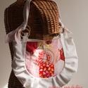 Hexie - piros és pink patchwork táska, válltáska, Táska, Válltáska, oldaltáska, Tarisznya, Készleten, akár azonnal vihető!   Először a nagy hatszögek készültek el, különböző pirosas és rószas..., Meska