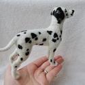 Kutya hasonmás - egyedi tűnemez dalmata szobor, Képzőművészet, Dekoráció, Szobor, Dísz, Egy hasonmás kutya minden gazdi számára tökéletes meglepetés. Fénykép alapján dolgozom, egyedi megre..., Meska