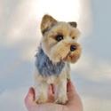 Kutya hasonmás - egyedi tűnemez yorkie, yorkshire terrier, Otthon & lakás, Képzőművészet, Szobor, Dekoráció, Dísz, Egy hasonmás kutya minden gazdi számára tökéletes meglepetés. Fénykép alapján dolgozom, egyedi megre..., Meska