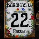 Egyedi tűzzománc utcatábla  - mezei virágos, Otthon, lakberendezés, Magyar motívumokkal, Utcatábla, névtábla, Tűzzománc, Egyedi,tűzzománc házszám, utcatábla, megrendelésre készül.  Mérete: 16 x 21 cm  A választott motívu..., Meska