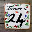 Egyedi tűzzománc utcatábla  - tulipános/lepkés/bogyós, Otthon & lakás, Táska, Divat & Szépség, Lakberendezés, Utcatábla, névtábla, Magyar motívumokkal, Egyedi,tűzzománc házszám, utcatábla, megrendelésre készül.  Mérete: 15 x 15 cm Választható motívumok..., Meska