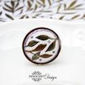 Bambusz - tűzzománc gyűrű, Ékszer, Gyűrű, Elegáns, nőies, könnyű viselet. Domborított, zománcozott betétet foglaltam be ezüstözött gyűrűalapba..., Meska