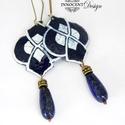 Marokkó - tűzzománc fülbevaló  (királykék), Elegáns, nőies, könnyű viselet. A fülbevaló ...