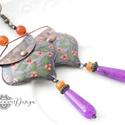 InBloom - tűzzománc fülbevaló (virágos lila), Elegáns, nőies, könnyű viselet. A fülbevaló ...