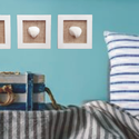 Tengeri stílusú kagylós képkeret-szett dekoráció 3db: Fehér szívkagyló, Otthon & Lakás, Dekoráció, Falra akasztható dekor, Festett tárgyak, Nagyon trendi az idei nyárra ez a 3db-os szett.  Ne félj, csakis elhullott kagylókkal készítem a tu..., Meska