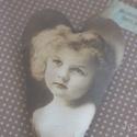 Vintage szív - HannaLili, Dekoráció, Otthon, lakberendezés, Ajtódísz, kopogtató, Varrás, Fotó, grafika, rajz, illusztráció, Készleten lévő, azonnal rendelkezésre álló termék (a fotón az adásvétel tárgyát képező konkrét dara..., Meska
