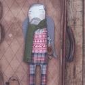 Szent Péter christmas edition - piros pulcsi, Baba-mama-gyerek, Dekoráció, Ünnepi dekoráció, Karácsonyi, adventi apróságok, Fotó, grafika, rajz, illusztráció, Varrás, Készleten lévő, azonnal rendelkezésre álló termék (a fotón az adásvétel tárgyát képező konkrét dara..., Meska