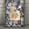 AKCIÓ! - Hímzett kép - Forrest Gump idézettel, Készleten lévő, azonnal rendelkezésre álló t...