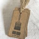Címke csomag kézműveseknek - Ecset, Készleten lévő, azonnal rendelkezésre álló t...