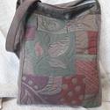 Vászon táska - mogyoróbarna, Táska, Válltáska, oldaltáska, Vászon táska. - tépőzárral záródik - mogyoróbarna mintás - egyedi kézműves termék Méret..., Meska