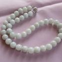 AMAZONIT-gyöngysor, Ékszer, Karkötő, Halvány kékes  AMAZONIT gyöngyökből  fűzött gyöngysor. A gyöngyök mérete:10mm A  nyakék ..., Meska