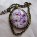 Vintage-virágos nyaklánc, Ékszer, Karkötő, Ékszerkészítés, Igazi romantikus vintage nyaklánc. A lencse mérete:30x40mm A nyaklánc:50cm   , Meska