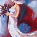 WHITE FANTASY - olajfestmény, Képzőművészet, Festmény, Olajfestmény, Technika:olaj-fa Méret:40x25cm  KERET NÉLKÜL ELADÓ!!! , Meska