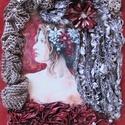 POTRÉ VIRÁGOKKAL- paverpol textilkép, Képzőművészet, Otthon, lakberendezés, Festmény, Vegyes technika, Technika:paverpol textilkép-vászonra+dekopázs Méret:30x40cm KERET nem szükséges, azonnal feltehető!!..., Meska