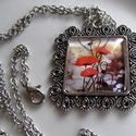 Vintage-PIPACSOS nyaklánc, Ékszer, Nyaklánc, Igazi romantikus vintage üveglencsés nyaklánc. A lencse mérete:25x25mm A nyaklánc:50cm   , Meska