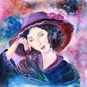 ÁLMODOZÓ- olaj festmény, Képzőművészet, Dekoráció, Festmény, Olajfestmény, Fa lapra festett olaj festmény- sajátos, egyéni stílusban. Mérete:30x30cm MOST AKCIÓS!!!!   , Meska