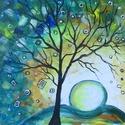 ABSZTRAKT -festmény AKCIÓBAN, Képzőművészet, Dekoráció, Festmény, Akril, ABSZTRAKT festmény akrillal festve-fa lapon Élénk színekkel megfestett dekoratív alkotás- gyermek sz..., Meska