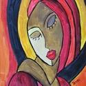 ABSZTRAKT -festmény , Képzőművészet, Dekoráció, Festmény, Akril, ABSZTRAKT festmény akrillal festve-fa lapon Élénk színekkel megfestett dekoratív alkotás. MÉR..., Meska