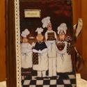 Szakácsos recept füzet, A füzet A5-ös méretű, egyedileg köttetett rus...