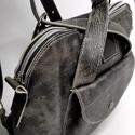 Háti/váll táska metál feketéből, Táska, Hátizsák, Válltáska, oldaltáska, Olyan táska, amit ha akarom válltáskaként, ha a karom hátitáskaként használhatok. Csak egy mozdulat ..., Meska