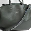 Mindentbele táska zöld, Táska, Szatyor, A táska nagyméretű. igazi bevásárló, kapkodó. Nincs bélelve, mágneszárral záródik: egyszerűen nagysz..., Meska