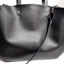 Mindentbele táska fekete, Táska, Szatyor, A táska nagyméretű. igazi bevásárló, kapkodó. Nincs bélelve, mágneszárral záródik: egyszerűen nagysz..., Meska