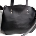 Kisebb mindentbele táska fekete, Táska, Szatyor, A táska igazi bevásárló, kapkodó. Nincs bélelve, mágneszárral záródik: egyszerűen nagyszerű. Belül k..., Meska