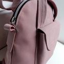 Háti/váll táska rózsaszínből, Táska, Divat & Szépség, Táska, Hátizsák, Válltáska, oldaltáska, Olyan táska, amit ha akarom válltáskaként, ha a karom hátitáskaként használhatok. Csak egy mozdulat ..., Meska