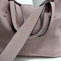 Bevásárló táska fáradt rózsaszínben, Táska, Divat & Szépség, Táska, Laptoptáska, Válltáska, oldaltáska, A táska igazi bevásárló, minden szükséges holmi belefér, de iratok, könyvek, laptop, kották részére ..., Meska