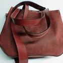 Kisebb mindentbele táska- borvörös, Táska, Divat & Szépség, Táska, Szatyor, A táska igazi bevásárló, kapkodó. Nincs bélelve, mágneszárral záródik: egyszerűen nagyszerű. Belül k..., Meska