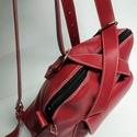 Háti/váll táska világos pirosból, Táska, Divat & Szépség, Táska, Hátizsák, Válltáska, oldaltáska, Olyan táska, amit ha akarom válltáskaként, ha a karom hátitáskaként használhatok. Csak egy mozdulat ..., Meska