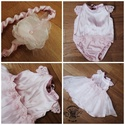 Csini-baba újszülött babybody fotózáshoz, Baba-mama-gyerek, Baba-mama kellék, Varrás, Rózsaszín body , gumis kisszoknya és fejpánt tartozik ehhez a különleges szetthez. 3 kisebb 4 hós b..., Meska
