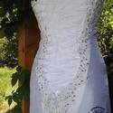 """Egyedi gyöngyhímzett menyasszonyi ruha """"Harmat"""", Esküvő, Menyasszonyi ruha, Varrás, Egyedi menyasszonyi ruha Gazdagon díszítve gyöngyökkel, flitterekkel.  A ruha is saját munka a dísz..., Meska"""