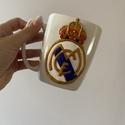 Real Madrid bögre, 3 dl, Otthon & Lakás, Bögre & Csésze, Konyhafelszerelés, Gyurma, Kézzel és megannyi szeretettel, süthető gyurma technikával készített Real Madrid szurkolói bögre. A..., Meska
