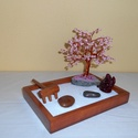 Asztali Zen kert 5, Dekoráció, Esküvő, Dísz, Nászajándék, Gyöngyfűzés, A békés percek mély átéléséhez kiválóan használható ez az asztali zen kert. Ajándéknak, dísznek is ..., Meska