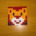 Pixel oroszlán , Dekoráció, Kép, Műanyag lapra műanyag négyzetek kirakásával készült kép. , Meska