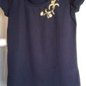 Hímzett póló, Ruha, divat, cipő, Női ruha, Hímzett pamut póló, mérete: M, Meska