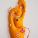 Együtt mókásabb!- Zsiráfok, Baba-mama-gyerek, Dekoráció, Játék, Otthon, lakberendezés, Varrás, Filc anyagból készültek, ezek a saját tervezésű, kézzel készített vicces zsiráfok. Mókás játék kics..., Meska