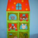 Pöttyös meseházikó- óriás zsebes fali tároló (Rendelhető), Gyerek & játék, Gyerekszoba, Tárolóeszköz - gyerekszobába, A gyerekszoba dísze lehet ez a praktikus, színes és vidám tároló, kiskutyussal, cicával, macival, ny..., Meska
