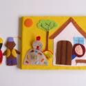 A kiskakas gyémánt félkrajcárja- ujjbáb készlet és mini bábszínház(Azonnal vihető!), Baba-mama-gyerek, Játék, Báb, Készségfejlesztő játék, Saját tervezésű ujjbábkészlet A kiskakas gyémánt félkrajcárja c. meséhez.  A bábok (gazdasszony, kis..., Meska