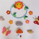 Pillangós-madárkás-virágos-cicás-házikós-napocskás színes babaforgó/ függő dísz (Aznonnal vihető!), Baba-mama-gyerek, Dekoráció, Gyerekszoba, Bájos, vidám gyermekforgó színes pillangókkal, madárkákkal,virágokkal, házikóval, alvó ma..., Meska