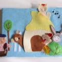 A brémai muzsikusok- ujjbáb készlet és mini bábszínház, Gyerek & játék, Játék, Báb, Készségfejlesztő játék, Saját tervezésű ujjbábkészlet A brémai muzsikusok c. meséhez.  A bábok (szamár, kakas, kutya, macska..., Meska