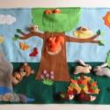 Varázslatos erdő- interaktív játszópad  12db állatkával (azonnal vihető!), Baba-mama-gyerek, Játék, Készségfejlesztő játék, Varrás, Mindenmás, Az erdő és annak lakói a témája ennek a vidám, színes játszópadnak, melyhez 12db állat tartozik: mó..., Meska