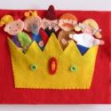 A didergő király- ujjbáb készlet és mini bábszínház, Gyerek & játék, Játék, Báb, Készségfejlesztő játék, Saját tervezésű ujjbábkészlet A didergő király c. meséhez.  A bábok (király, kislány, udvari fűtő, u..., Meska