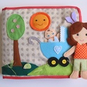 Anyu és én!  Interaktív-öltöztetős játszókönyvecske (azonnal vihető!), Baba-mama-gyerek, Játék, Készségfejlesztő játék, Baba, babaház, Varrás, Mindenmás, Saját, egyedi tervezésű minta alapján készült nagyméretű, interaktív játszókönyvecske, mely rendkív..., Meska
